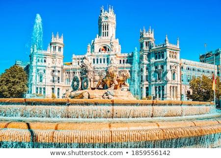 fonte · Madri · Espanha · edifício · cidade · azul - foto stock © pedrosala