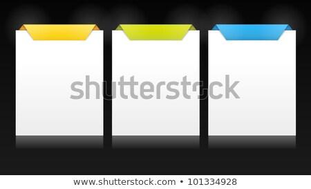 Vettore prodotto confronto carte segno spazio Foto d'archivio © orson