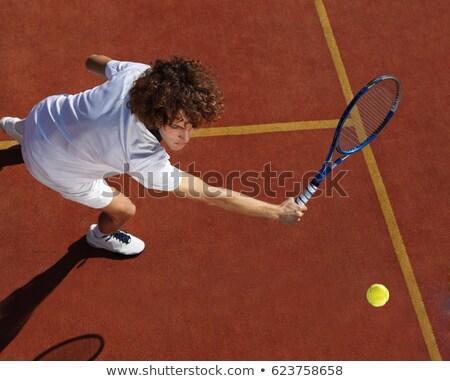 Jogador greve bola vetor mãos homem Foto stock © yura_fx