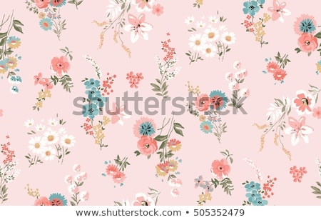 Stok fotoğraf: Seamless Floral Pattern Retro Background Vector Illustration