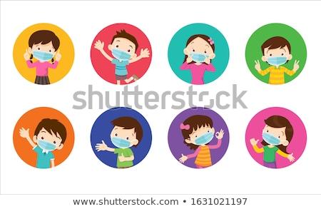 Stock fotó: Gyerekek · arcok · vektor · kreatív · terv · művészet