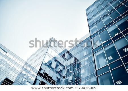 Ver novo edifício moderno arranha-céus negócio centro Foto stock © cozyta