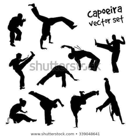 tánc · sport · sziluettek · szett · nagy · gyűjtemény - stock fotó © kaludov