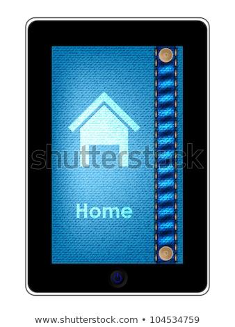 Téléphone portable spéciale jeans design internet Photo stock © place4design