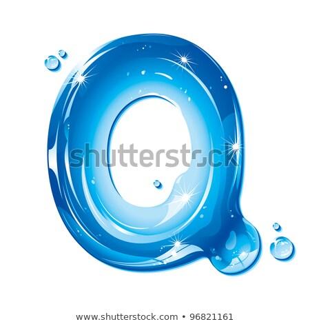 Water vloeibare brief alfabet gel witte Stockfoto © Jul-Ja