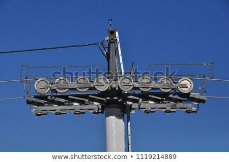 Ski lift zomer diep blauwe hemel Stockfoto © Antonio-S