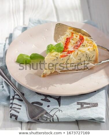 tomato,cheese and basil tart Stock photo © M-studio