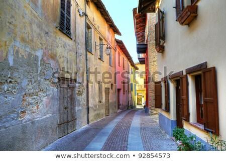 Old wooden door. Serralunga D'Alba, Italy. Stock photo © rglinsky77