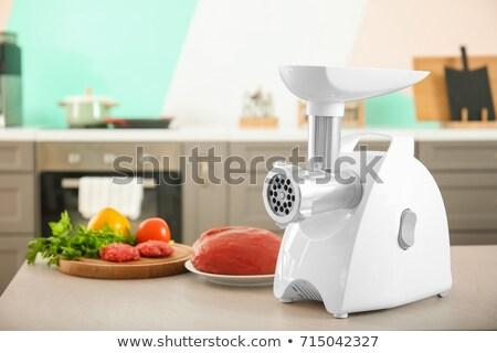 carne · abstrato · fundo · cozinha · verde - foto stock © ozaiachin
