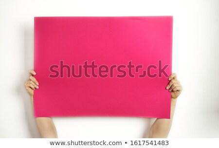alegre · mujer · retrato - foto stock © posterize