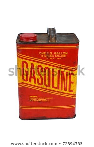 Enferrujado gasolina lata terreno metal Foto stock © Kuzeytac