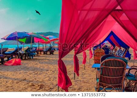 Sunset on Baga beach. Goa Stock photo © dmitry_rukhlenko