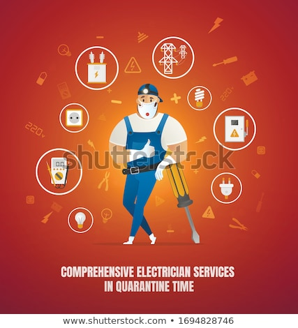 Electrician surrounded by equipment Stock photo © photography33