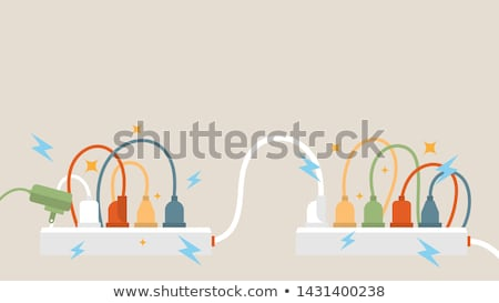 outlet power strip isolated Stock photo © ozaiachin