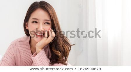Gyönyörű modell megnyugtató lány szabadtér zuhany Stock fotó © prg0383