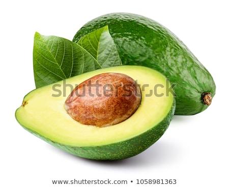 kettő · egész · érett · avokádó · gyümölcs · fehér - stock fotó © agorohov