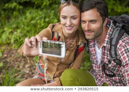 orientación · Pareja · mapa · sonrisa · hombre · forestales - foto stock © photography33