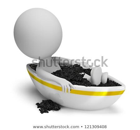 3d small people - caviar bath Stock photo © AnatolyM