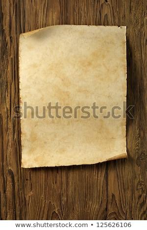 ヴィンテージ · 古い紙 · スクロール · 木材 · テクスチャ · 壁 - ストックフォト © inxti