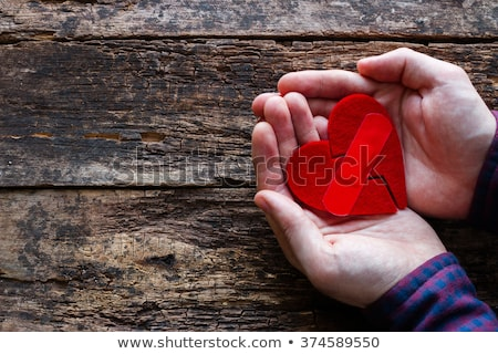 Man gluing paper Stock photo © photography33