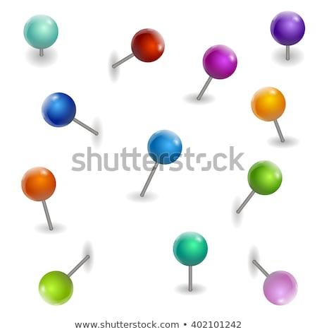 рисунок Pin вектора изображение рисованной Cartoon Сток-фото © perysty