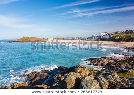 Plaj kıyı cornwall manzara mavi dalgalar Stok fotoğraf © latent