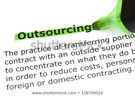 Outsourcing Definition Stock photo © ivelin