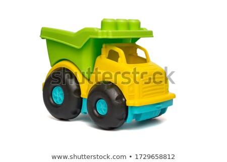Azul brinquedo caminhão isolado branco Foto stock © winterling