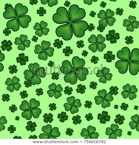 Shamrock icon pattern celtic style, green creative clover. St Patrick's Day vector illustration. Stock photo © Hermione