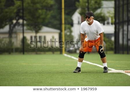 Softbal speler klaar volgende spelen kind Stockfoto © mikecharles