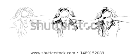 Woman suffering from stress Stock photo © photography33