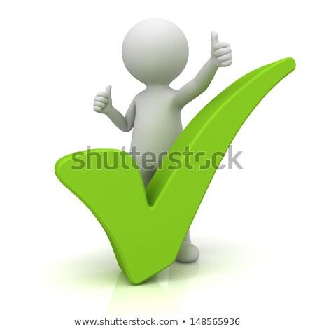3d · pessoas · verificar · assinar · branco - foto stock © quka