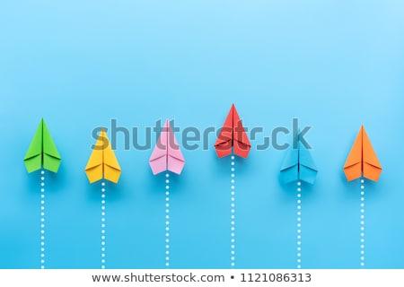 üzlet versenytárs pénzügyi versenyképes előny szimbólum Stock fotó © Lightsource