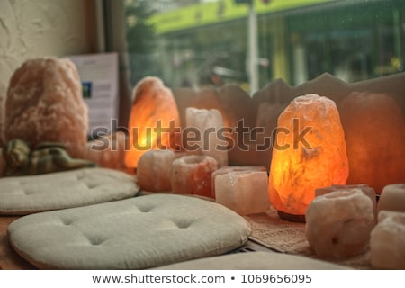 Himalayan salt lamp Stock photo © smuki