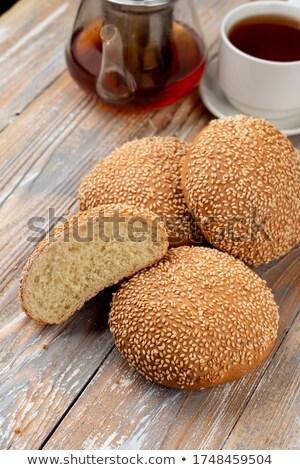 Een geheel half tarwe Stockfoto © ozaiachin