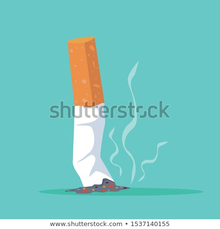 ashtray with butt isolated Stock photo © shutswis