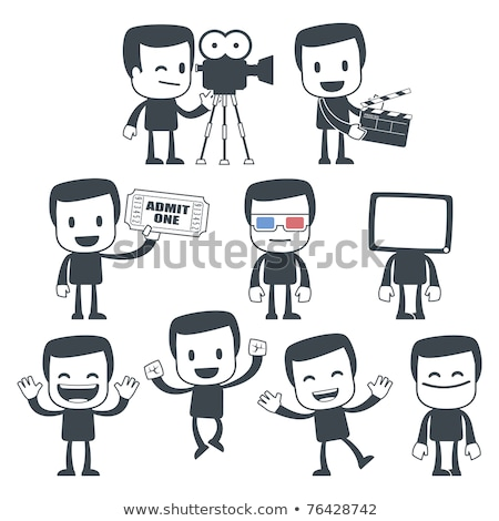 Movie Director - Cartoon Character - Vector Illustration stock photo © indiwarm