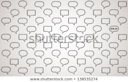 Primed text bubbles background stock photo © kloromanam