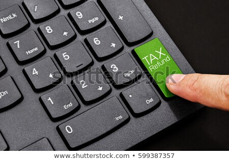 Keyboard with Tax Refund Button. Stock photo © tashatuvango
