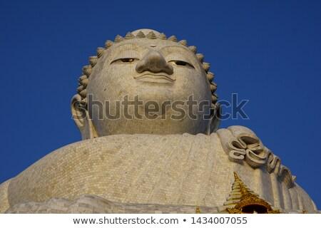 Buddha portrait souvenir Thaïlande bois visage Photo stock © bbbar