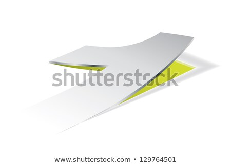 Paper folding with number 1 in perspective view Stock photo © archymeder