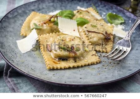 Ravioli bazsalikom sajt vacsora ebéd étel Stock fotó © M-studio