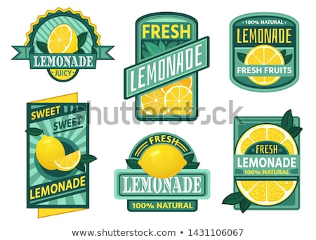 Jég hideg limonádé gyümölcs háttér nyár Stock fotó © M-studio