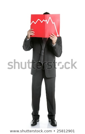 Businessman young negative chart, full length Stock photo © lunamarina