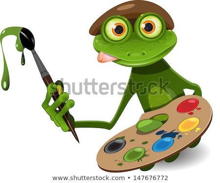frog painter stock photo © derocz