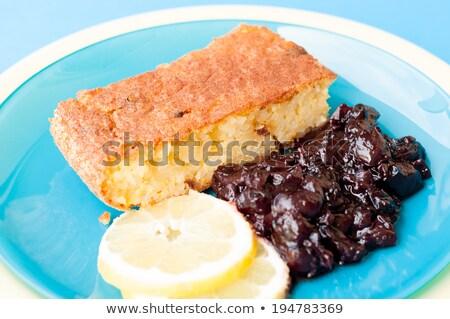 2 コメ ケーキ ジャム クローズアップ 木製 ストックフォト © aladin66
