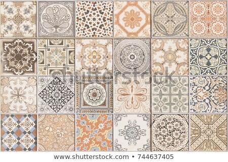 kwiatowy · ściany · dekoracji · Hiszpania · tekstury · budynku - zdjęcia stock © bertl123
