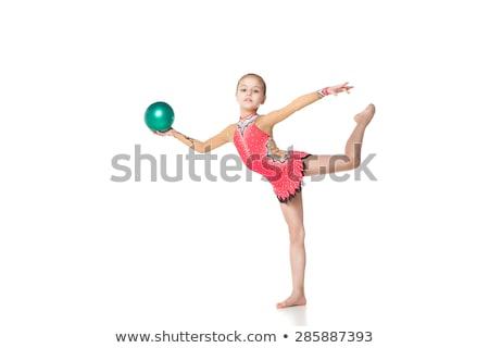 criança · comprometido · ginástica · isolado · branco · pequeno - foto stock © mcherevan