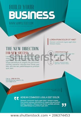 Absztrakt művészi web design sablon internet Stock fotó © pathakdesigner