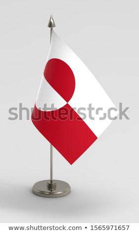 Minyatür bayrak yalıtılmış kırmızı afiş Stok fotoğraf © bosphorus